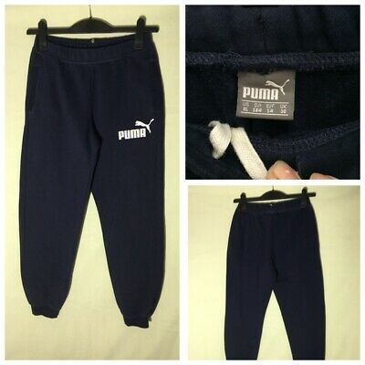 Puma Boys Navy Blue Cotton/Polyester Jogging Trousers 30(826)