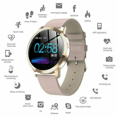 Smart Watch Waterproof Fitness Tracker Blood Pressure Heart Rate Tempered Mirror