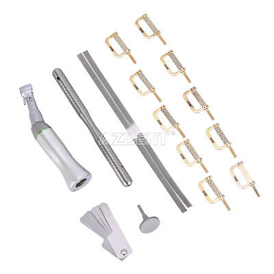 Dental 4:1 Reduction E-type Contra Angle Interproximal Stripping Handpiece Set