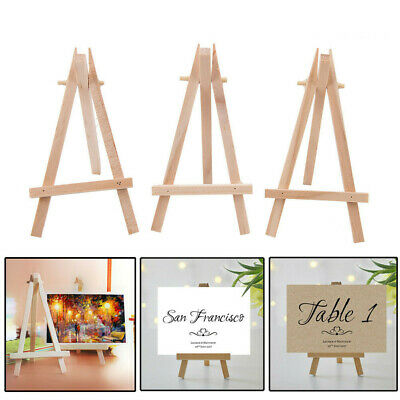 3x Mini Wooden Art Holder Artwork Display Table-Top Easels Drawing Boards new.
