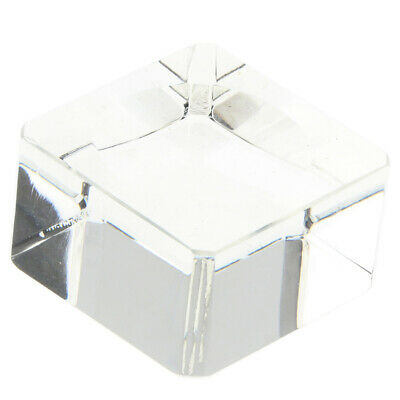 Clear Square Dimple Ball Display Stand Home Decration For 70-80mm Sphere Globe