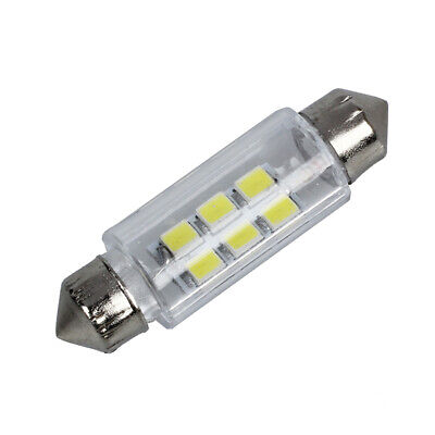 38mm White 6 SMD LED Car Interior Dome Light Lamp Bulb DC 12V New H9S2 P6X