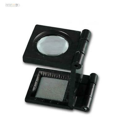 Mini Loupe 8x Grossissement Pliant Support, Bijoutier Nählupe Timbres