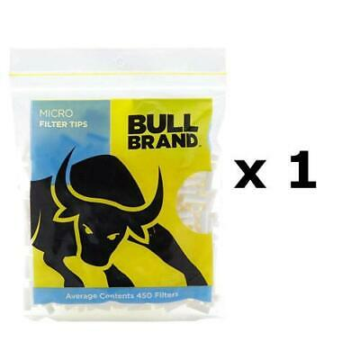 450 BULL BRAND Micro Filter Tips 4.6mm Cigarette Resealable Tobacco Smoking UK