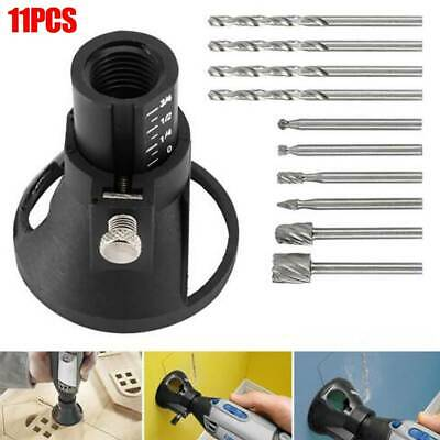 Dremel Router Attachment Drill Bit Rotary Multi Cutting Tools Guide Kits Set HSS