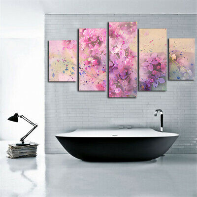 Abstract Pink Flower Fantasy Poster Canvas Art Wall Home Decor Canvas Print