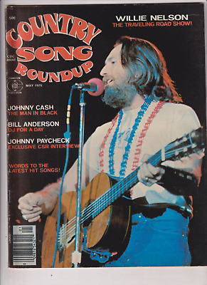 Country Song Roundup Mag Johnny Cash Willie Nelson May 1976 121919nonr