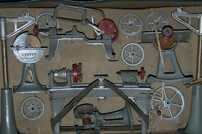 L usine miniature LABEUR Paris Dampf Maschinen Fabrik Transmission vintage ~1930