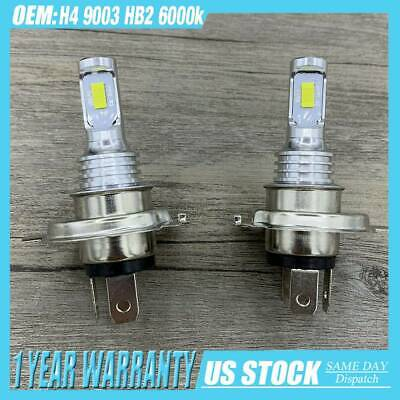 SUPER WHITE CSP LED Headlights Bulbs Kit High Low Beam Canbus H4 9003 HB2 6000K