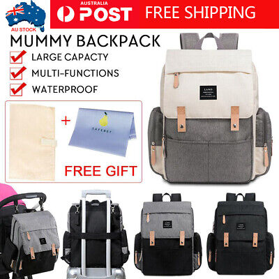 GENUINE LAND Multifunctional Baby Diaper Backpack Changing Bag Nappy Mummy New