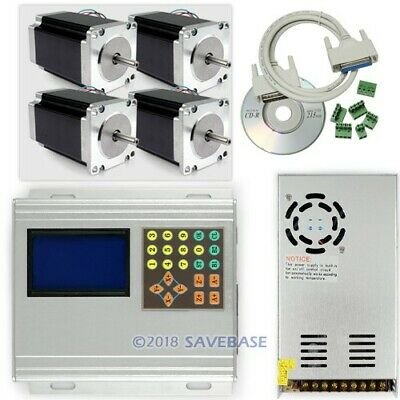 CNC Kit 4 Axis TB6560 Stepper Driver +Box/Keypad/Display/Nema23 Motor 2.1Nm/PSU
