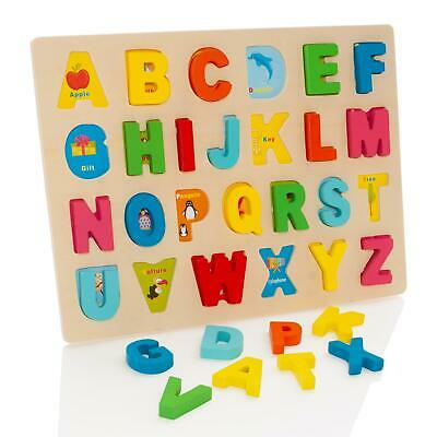 Milly & Ted Wooden Alphabet Letters Match Puzzle - Childrens Matching Jigsaw