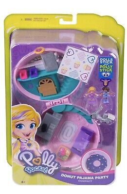 Polly Pocket Donut Pajama Party Collectible Kids Gift New Miniature Figures -NEW