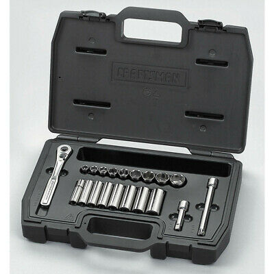 """Craftsman 9-16452: 3/8"""" Chrome 6 Point Socket Wrench Set, Number of Pieces: 20"""