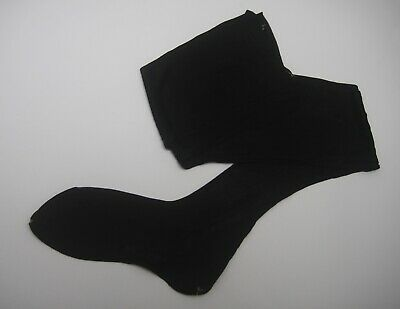 Vintage 1940s Stockings Black Rayon Fully Fashioned (26)