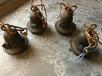 Vintage lot of 4 chandelier lamp sockets with covers, shade fitters Arrow?