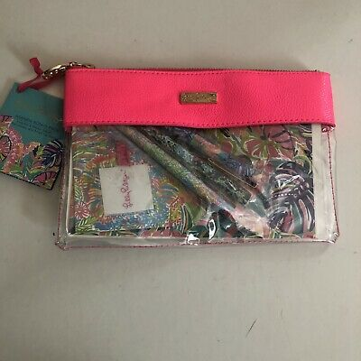 Lilly Pulitzer Agenda Bonus Pack Zip Pouch Pen Holder Sticker Pages Felt Tip Pen