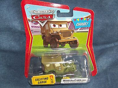 Rare Voiture Disney Pixar Cars 1 Saluting Sarge Sergent Edition Limitee Chase