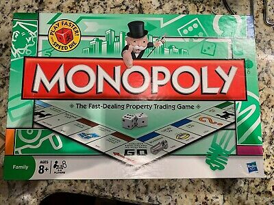 Hasbro Gaming MONOPLY Speed Die Edition Board Game, Age 8+ Pre-owned Complete!