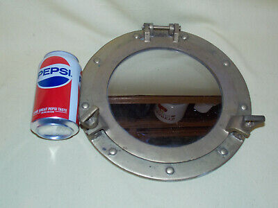 Porthole Mirror Solid Brass Frame Nautical Maritime Boat Ships Cabin Wall Decor