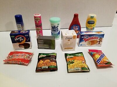 Mini Brands 5 Surprise Zuru Lot 13 No Duplicates Twinkies Wet Ones Dove Basket