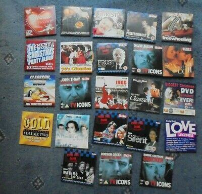 Mixed Job Lot Of Promo DVDs CD's etc From Various UK Newspapers (DM1)