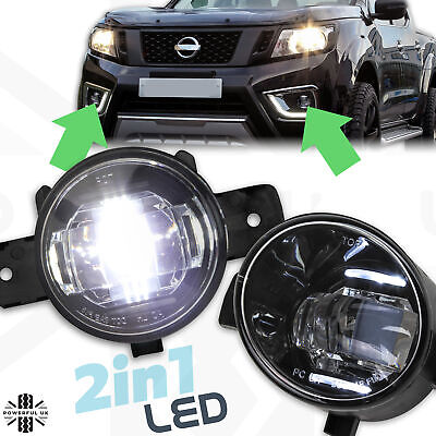 Front Bumper Fog Lights Pair LED+DRL PAIR for Nissan Navara NP300 D23 lamp s