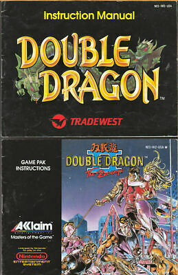 Double Dragon The Revenge Nes Game In Box With Manual And Game