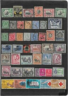 Old Empire Kenya,Uganda & Tanganyika  Kgv On-Wards All Different Used Collection