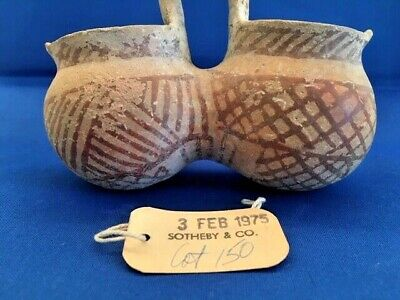 Ancient Cypriot Rare Double-Bowled Bronze Age Vessel (Circa 1900-1650 BC)