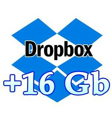 Dropbox 16GB  Upgrade Lifetime Service Storage 18GB positive comments In 7 days