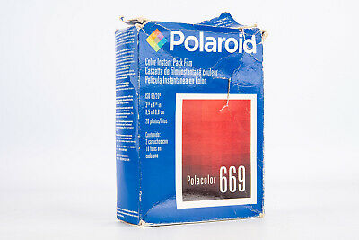 Polaroid Type 669 Instant Color Film Twin Pack 20 Sheets EXPIRED 01 2003 V18