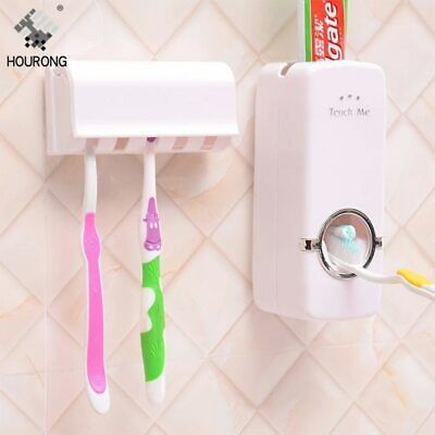 1set Automatic Toothpaste Dispenser Toothbrush Holder Wall Mount Tooth brush Sto