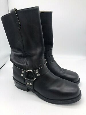 MENS DOUBLE H HARNESS MOTORCYCLE BLACK BOOTS SIZE 11 Snoot 7416