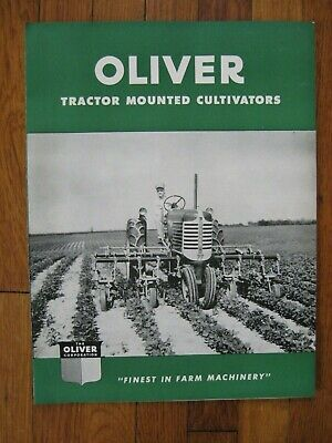 1949 Oliver Tractor Mounted Cultivator Brochure