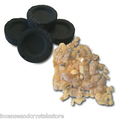 5 CHARCOAL DISCS & 15g Natural Resin Incense choose your own resin from the menu
