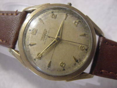 Vintage GOLD FD large antique Art Deco TISSOT AUTOMATIC mens watch
