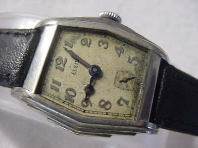 Vintage GOLD FD large antique 1920 Art Deco ELGIN mens watch