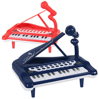 Mini Electronic 25 Keys Piano Keyboard with Microphone Playset Kids Music Toys