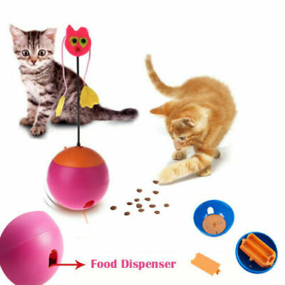 Cat Toy Ball Pet Kitten Toy Automatic Food Dispenser Tumbler Laser Interactive