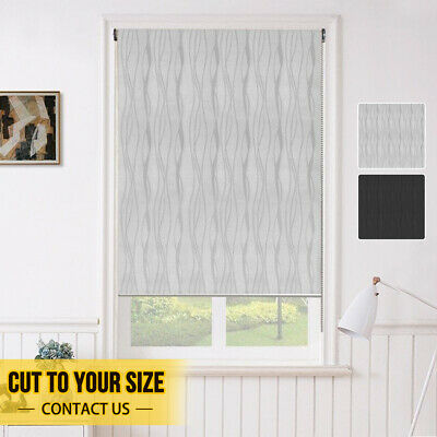 BLOCKOUT Contemporary Jacquard Roller Blind With Satin Chrome Bottom Rail&Chain