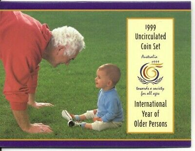 1999 Australian Mint Set of Coins - Year of Older Persons - Free Postage!