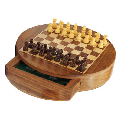 Portable Chess Travel Set Kids Adults Traditional Magnetic Board Puzzle Game Toy