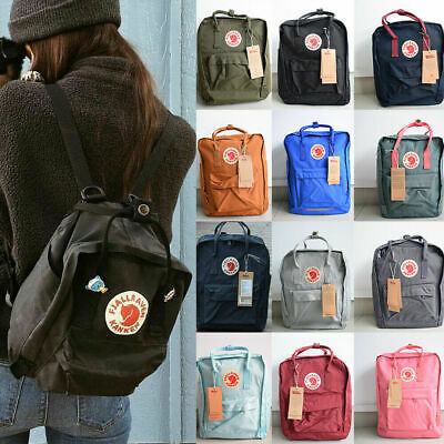 7L/16L/20L Fjallraven Kanken Sport Backpack Canvas Waterproof Travel Bag Handbag