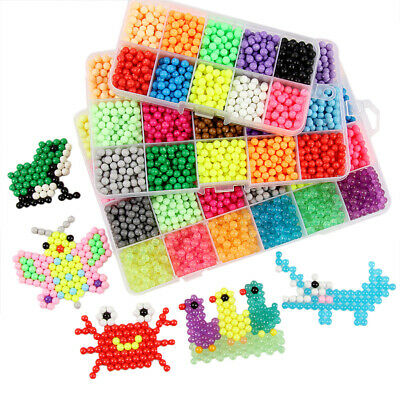 Aquabeads Water Fuse Beads Refill in 24 Popular Candy Colors