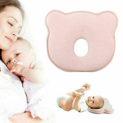 For Bed Neck-Support Anti Flat Head Baby Cot Pillow Newborn Infant Cushion UK