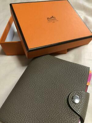 HERMES ACCESSORY NOTEBOOK COVER BEIGE 10cm×11cm FRANCE USED