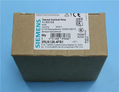 1pc New Siemens Thermal Overload Relay 3RU6126-4FB1 Current 34-40A