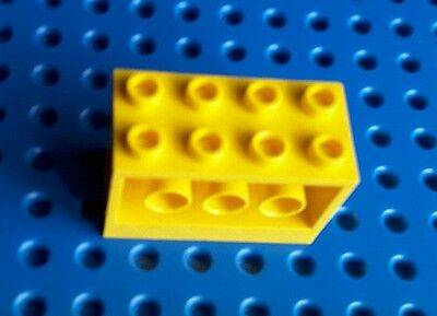 @@ YELLOW //JAUNE LEGO 6061 @@ Brick x1 Modified 2 x 4 x 2 with Holes on Sides