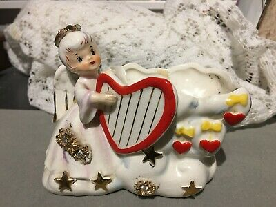 New Vintage Lefton Adult with Young Swan Table Night Light # 04969 signed Hand P